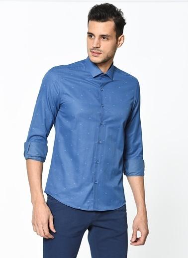 Puantiyeli Uzun Kollu Gömlek-Wessi
